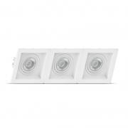 Luminária Embutir Save Energy SE-330.2073 Recuado Linked 3L AR70 390x130x35mm - Branco