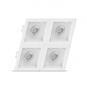 Luminária Embutir Save Energy SE-330.2077 Recuado Linked 4L PAR30 340x340x35mm - Branco