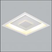 Luminária Embutir Usina 280/50 Drones 4L G9 500x500x70mm