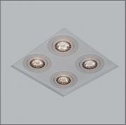 Luminária Embutir Usina 30200/23 Premium No Frame 4L GU10 AR70 220x220x80mm