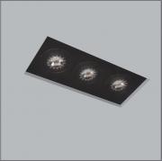 Luminária Embutir Usina 30215/38 Premium No Frame 3L GU10 Dicroica/PAR16 110x330x80mm