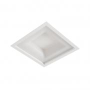 Luminária LED Embutir Usina 19015/38LED3 Belize 24,4W 3000K Bivolt 380x380x75mm