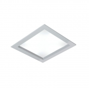 Luminária LED Embutir Usina 19045/38LED3 Ayla 24,4W 3000K Bivolt 380x380x75mm