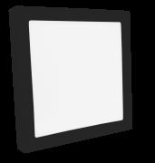 Luminária Sobrepor LED Save Energy SE-240.1616 Jet Black 20W 3000K Bivolt 225x225mm Preto
