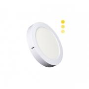 Luminária Sobrepor LED Ecoforce 18447-OUTLET Redondo Dimerizável 16W 3000K IP20 Bivolt Ø225x34mm