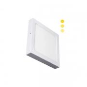 Luminária Sobrepor LED Ecoforce 18450-OUTLET Quadrado Dimerizável 22W 3000K Bivolt IP20 295x295x34mm