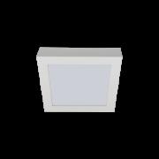 Luminária Sobrepor LED Romalux 80103 21W 3000K IP20 Bivolt 300x300x50mm Branco