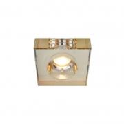 Luminária/Spot Embutir Starlux RG038A-AB 1L GU10 Dicroica/MR16 100x100x25mm - Âmbar/Espelho