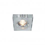 Luminária/Spot Embutir Starlux RG038B-CH 1L GU10 Dicroica/MR16 80x80x25mm - Transparente/Espelho