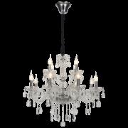 Lustre Mantra 30440 Imperia C/ Cristal Transparente 12L E14 Ø720x650mm - Cromado