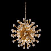 Lustre Mantra 30517 Núcleo C/ Cristal 20L E14 Ø750x750mm - Dourado