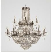 Lustre Tupiara 4515-OV-CT Imperial 24L E14 Ø1000x950mm Ouro Velho/Transparente