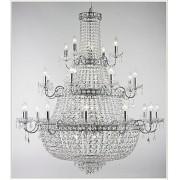 Lustre Tupiara 4524-CR-CT Imperial 35L E14 Ø1100x1200mm Cromado/Transparente