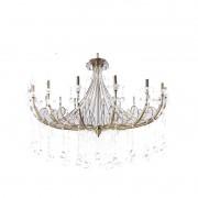 Lustre Tupiara 8918-OV-CT Bourbon 18L E14 Ø1500x1030mm Ouro Velho/Transparente