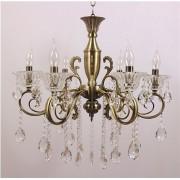 Lustre Tupiara 8-2206-OV-CT Moscow 12L E14 Ø600x580mm Ouro Velho/Transparente