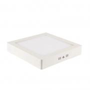 OUTLET Painel Sobrepor LED Blumenau 80704104 Slim Quadrado 12W 4100K 160x160x28mm Branco