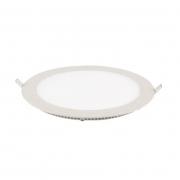 OUTLET Painel Embutir LED Blumenau 803230-04 Slim Redondo 12W 3000K Ø168x15mm Branco Brilho