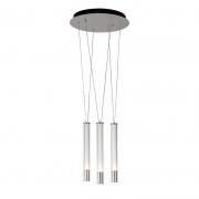 Pendente Bella RE015M Água Nickel Transparente/Branco 3L LED 3000K 975lm 19,2W Bivolt IP20 400x385mm