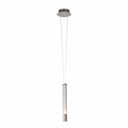 Pendente Bella RE015S Água Nickel Transparente/Branco 1L LED 3000K 400lm 6,4W Bivolt IP20 45x385mm
