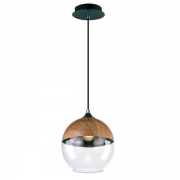 Pendente Casual Light Quality 606-OUTLET Classic 1L E27 Ø200mm Metal/madeira