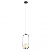 Pendente Casual Light Quality PD1333PT-OUTLET Cadre 1L G9 170x120x405mm Preto/Champagne