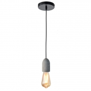 Pendente Casual Light Quality PD751-OUTLET Cover 1L E27 Ø45x90mm Concreto