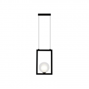 Pendente Casual Light Quality PDH1532TRPT Orbit  1L G9 5W 180X120X280mm Preto Total