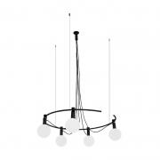 Pendente Casual Light Quality PDH1549PT Hook 5L G9  25W  Ø685x180mm Preto