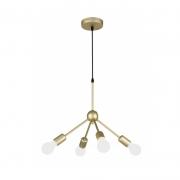 Pendente Casual Light Quality QPD13224DO Cluster 4L E27 40W Ø400x300mm Dourado