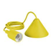 Pendente Furlight FL4014 Color E27 Ø40x95mm Amarelo