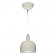 Pendente Itamonte 425/1-BCO Aluminium 1L E27 A60 LED Ø200x210mm Interior Branco