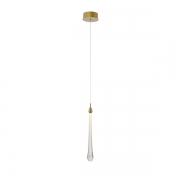 Pendente LED Bella OC002S-OUTLET Goccia 2W 2700K Bivolt Ø120x410mm Dourado