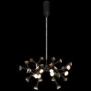 Pendente LED Mantra 30497 Rami 108W 3000K Bivolt Ø740x550mm - Preto Fosco/Ouro Velho