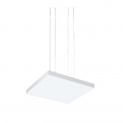 Pendente LED Newline 536XLED3 Tray 33,6W 3000K Bivolt 500x500x35mm 5000mm