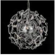 Pendente Mais Luz PE-032/12.60C 12L G9 Ø600x600x600mm Cromado