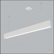 Pendente Usina 4711/130FCH Tropical Slim Retangular C/ Chumbador 2L Tubular LED 120cm T8 95x1280x85mm