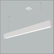 Pendente Usina 4711/65FKV Tropical Slim Retangular Fio Kevlar 2L Tubular LED 60cm T8 95x650x85mm