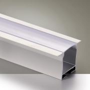 Perfil Embutir Itamonte PF-3628/2-BT 36x2000x27mm Branco Texturizado