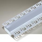 Perfil Embutir Itamonte PF-5615/3-BT 56x3000x15mm Branco Texturizado