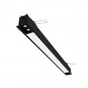 Perfil Embutir LED Newline EM0413LED3 Fit40 4 Focos de 10º 46W 3000K Bivolt 1260x52x70mm