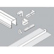 Perfil Embutir Linear Usina 30062/TP C Jotha Junção Teto/Parede 150x150mm