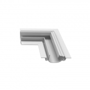 Perfil Embutir Newline PELS000D LineUp para Fita LED Junção Lateral Direita 137x137x35mm - Branco