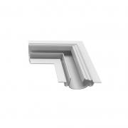 Perfil Embutir Newline PELS000E LineUp para Fita LED Junção Lateral Esquerda 120x120x35mm - Branco