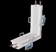 Perfil Embutir para Fita LED Usina 30032/TP Garbo Junção Parede/Teto 100x100mm