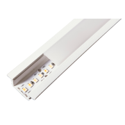 Perfil Embutir para Fita LED Usina 30685/75 Wood Iluminação Direta 75cm 28x750x11mm