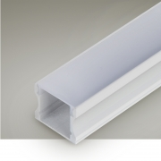 Perfil Sobrepor Itamonte PF-1715/3-BT 17x3000x15mm Branco Texturizado