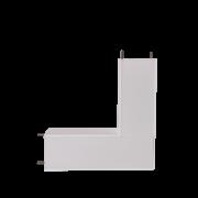 Perfil Sobrepor Junção Parede/Teto para Fita LED Usina 30077 Nazca 150x150mm