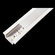 Perfil Sobrepor para Fita LED Usina 30762/TP Wood Iluminação Direta Junção Teto/Parede 100x100mm