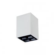 Plafon LED Newline Box LED PL0447LED4 4 Focos 24º 4W 4000K 70x70x200mm Bivolt