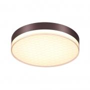 Plafon Sindora LED DCX01190 Redondo Marrom 50W 3000K Bivolt Ø480x90mm